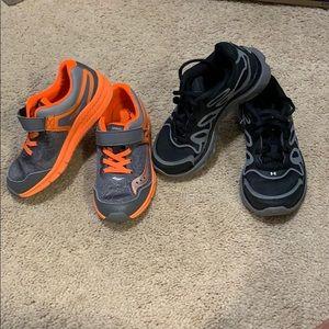Saucony & Under Armour boy shoes